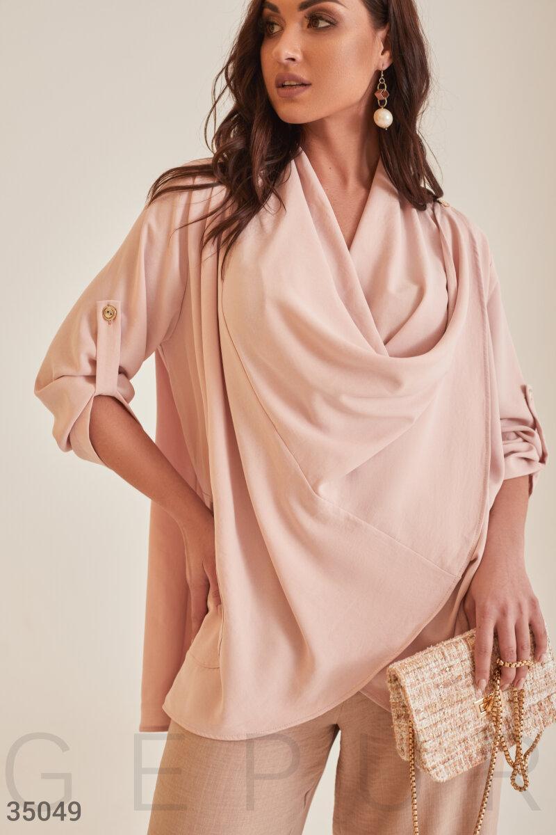Оригинальная блуза оверсайз