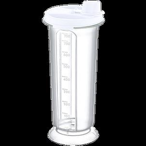 Бутылка для масла / уксуса 0,75 л белая прозрачная, фото 2