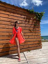 Детская пляжная туника на девочку