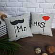 """Набор из двух подушек """"Мистер и Миссис"""", фото 3"""