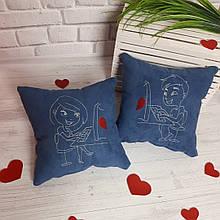 """Набір з двох подушок """"Кохання у мережі"""""""""""