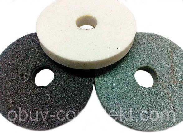 Круги абразивний (камінь) 14А 125*20 вн. 32мм. малий білий, фото 2