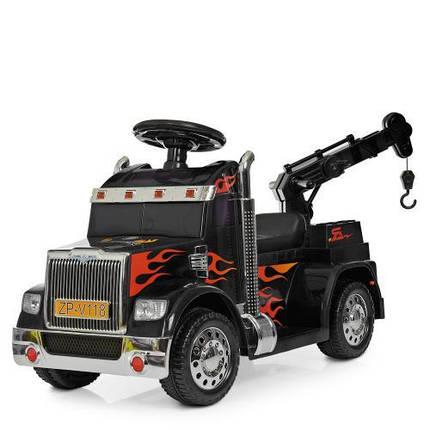 Детская машинка Bambi Тягач ZPV118BR-2 электромобиль для прогулок черный, фото 2
