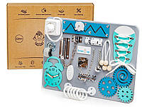 Бизиборд BrainUp Smart Busy Board настольная развивающая игра доска из 9 деталей XS30*40 см (6002_1)