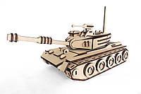 Механический деревянный 3D пазл РЕЗАНОК Танк 163 элемента (0001)