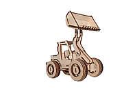 Механический деревянный 3D пазл РЕЗАНОК Бульдозер 87 элементов (0004)