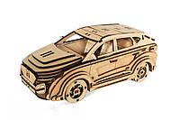 Механический деревянный 3D пазл РЕЗАНОК Автомобиль Хундай 120 элементов (0008)