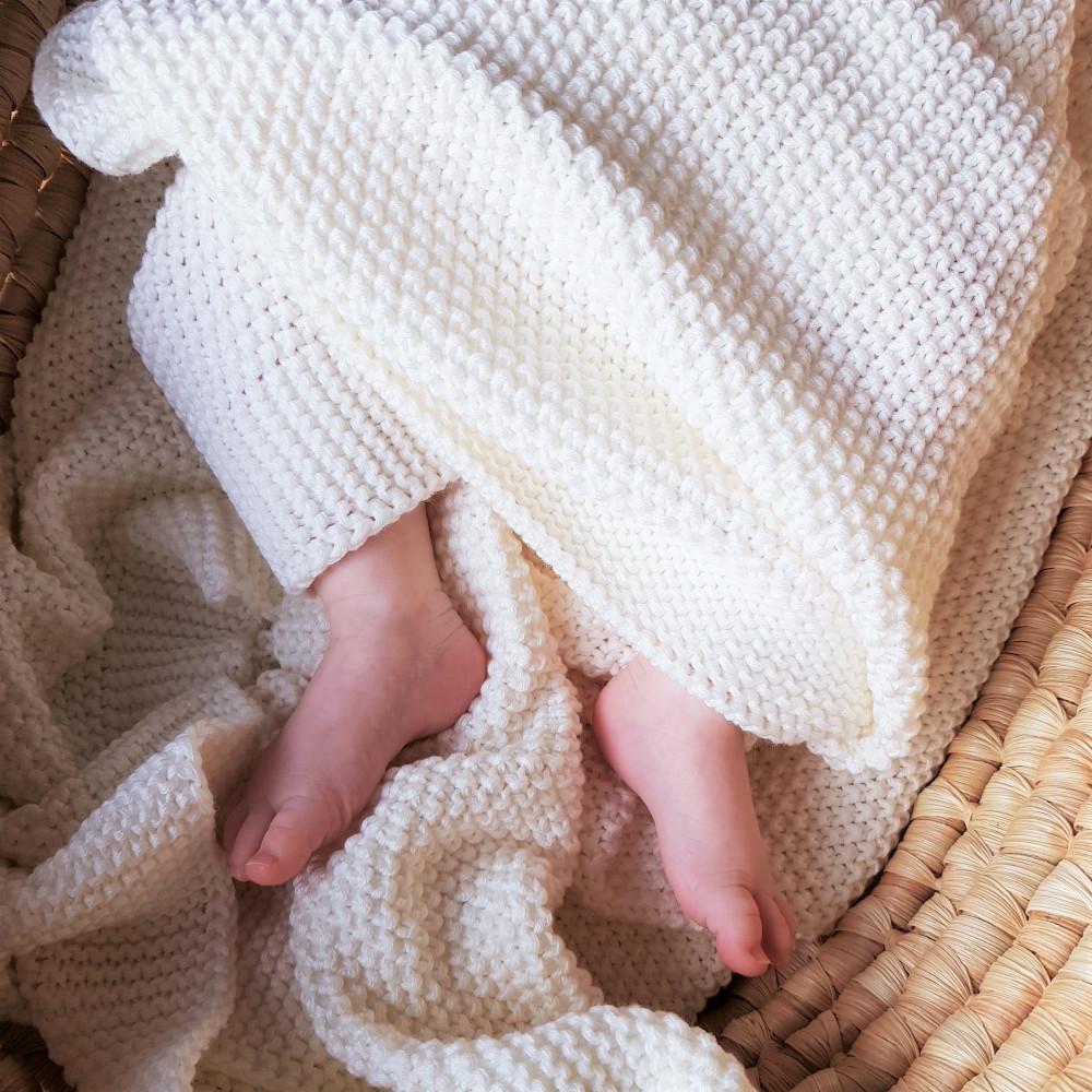 Плед Айворі дитячий в'язаний HappyLittleFox