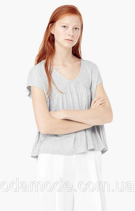 Женская футболка mango серая