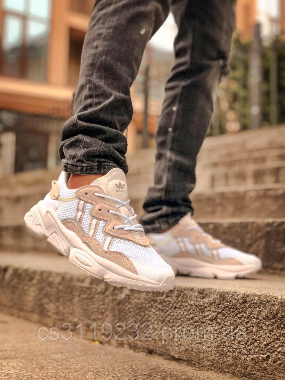 Мужские кроссовки Adidas Ozweego (белый/бежевый)