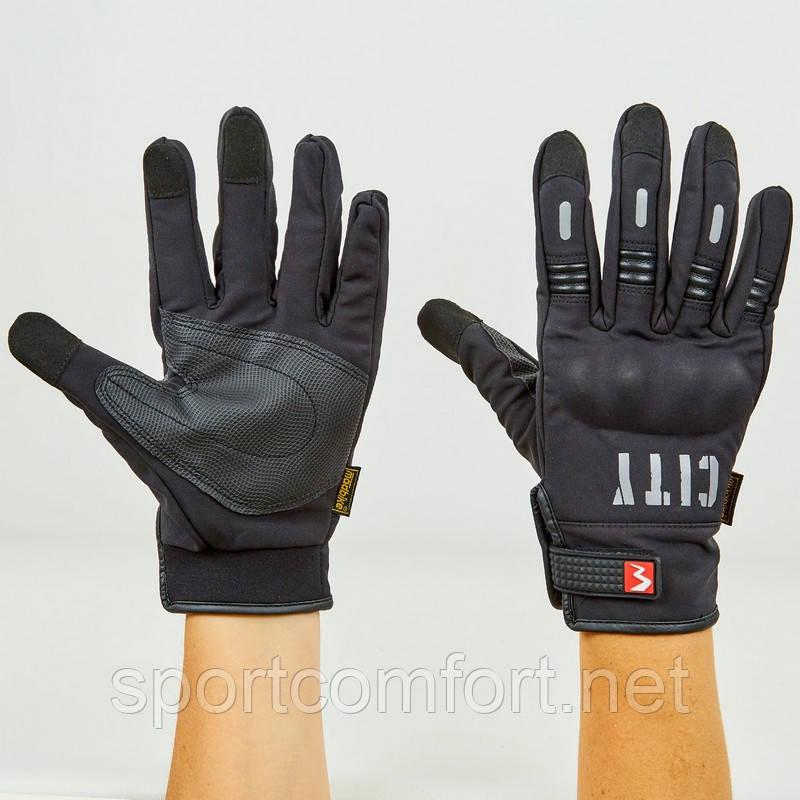 Мотоперчатки Madbike city black