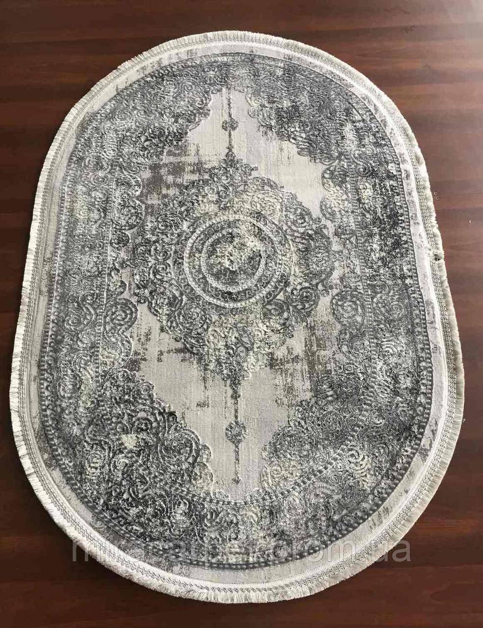 Серый овальный ковер,турецкий ковер