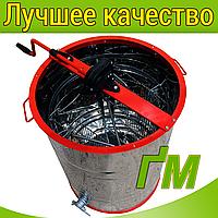 Медогонка 2-х рамочная не поворотная, нержавеющий корпус, кассеты, ротор, фото 1