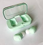 Беспроводные наушники блютуз гарнитура Bluetooth наушники 5.0 Wi-pods XG-21. Зеленые, фото 10