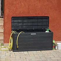 Сундук пластиковый Woodys Lin 280 л коричневый Toomax, фото 3