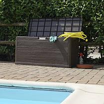 Сундук пластиковый Woodys Lin 280 л коричневый Toomax, фото 2