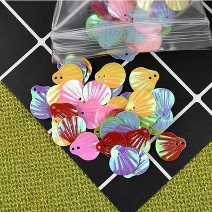 Паетки «Ракушки» для слаймов (50544), фото 2