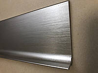 Плоский алюминиевый плинтус под покраску, высота 60мм., фото 1