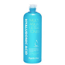 Увлажняющий тонер с гиалуроновой кислотой FarmStay Hyaluronic Acid Multi Aqua Ultra Toner, 500мл