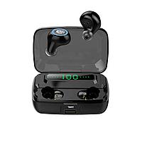 Беспроводные Hi-Fi Bluetooth 5.0 наушники M11 TWS чёрного цвета с зарядным кейсом на 3300 мА/ч (7119