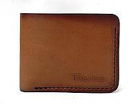 Кожаное мужское портмоне ручной работы коричневого цвета Tsar.store ручной шов и вощеная кожа