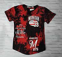 """Подростковая футболка для мальчика """"23"""" размер 9-12 лет, цвет черный с красным"""