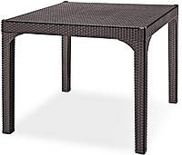 Стол квадратный Irak Plastik Comfort 90x90 под ротанг темно-коричневый