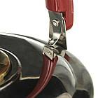 Чайник со свистком музыкальный A-PLUS на 4.0 л нержавейка для плиты, фото 3