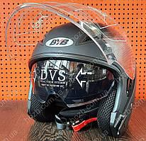 Мотошлем открытый черный с очками