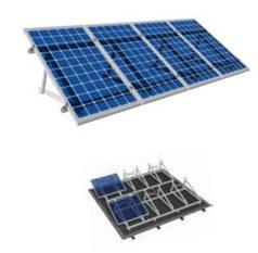 Комплект системы крепления на 1 фотомодуль на плоскую крышу (холодно-оцинкованный профиль)