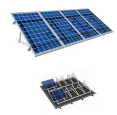 Комплект системы крепления на 1 фотомодуль на плоскую крышу (алюминиевый профиль)