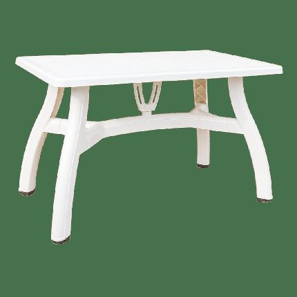 Стол прямоугольный Irak Plastik King 70x115 белый, фото 2