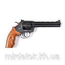 Револьвер под патрон Флобера РФ-461М  с буковой рукояткой BLACK