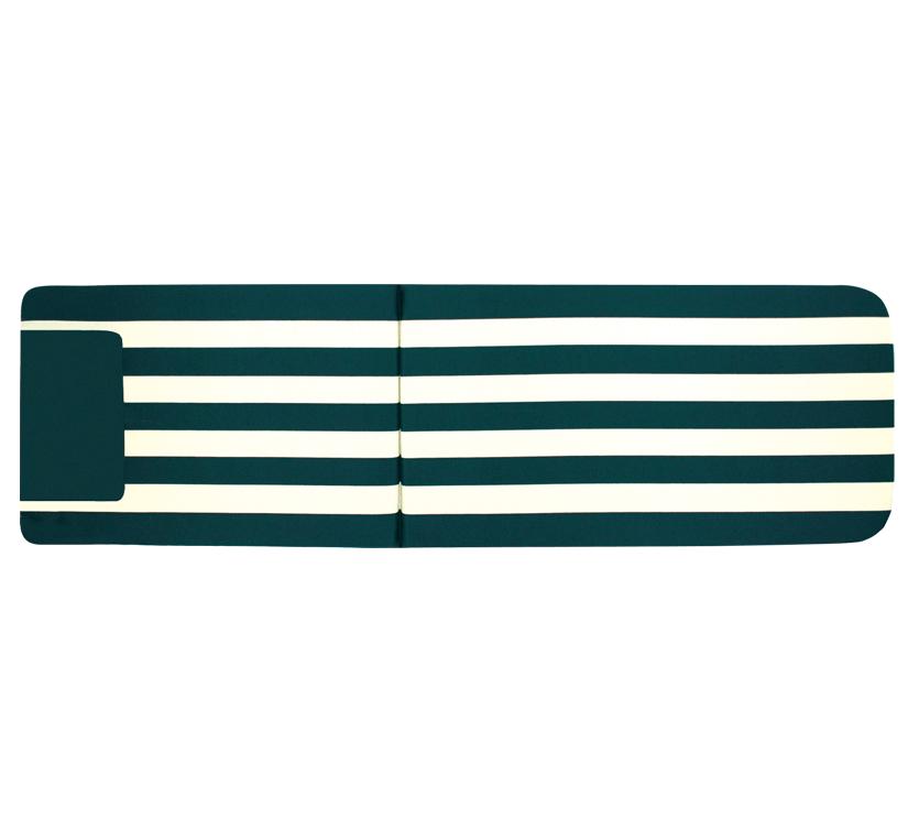 Матрас Papatya на шезлонг Myra зеленый в полоску
