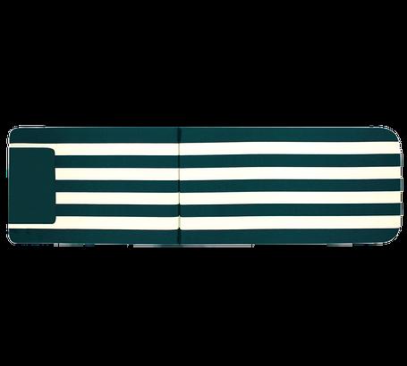 Матрас Papatya на шезлонг Myra зеленый в полоску, фото 2