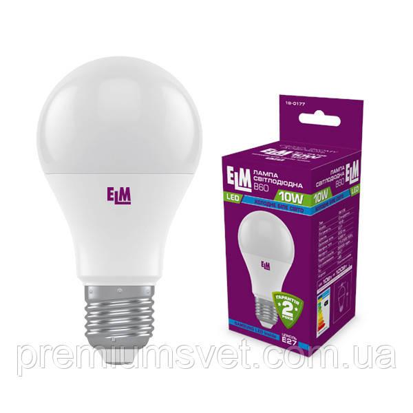 Лампа ELM Led B60 10W PA10 E27 4000 (18-0177)