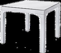 Стол квадратный Irak Plastik Comfort 90x90 под ротанг белый