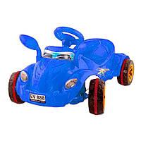 Каталка педальная Молния со звуковым сигналом синий Kinderway
