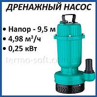 Дренажный насос Taifu TPS 250 0,25 кВт погружной для откачки грязной воды и полива