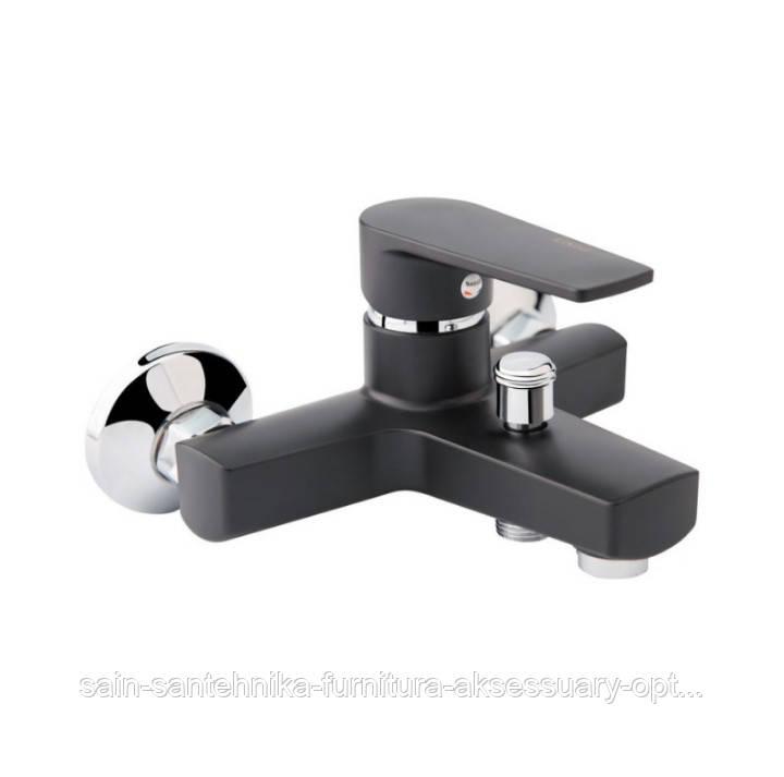 Смеситель для ванной и душа не поворотный из пластика (цвет черный)