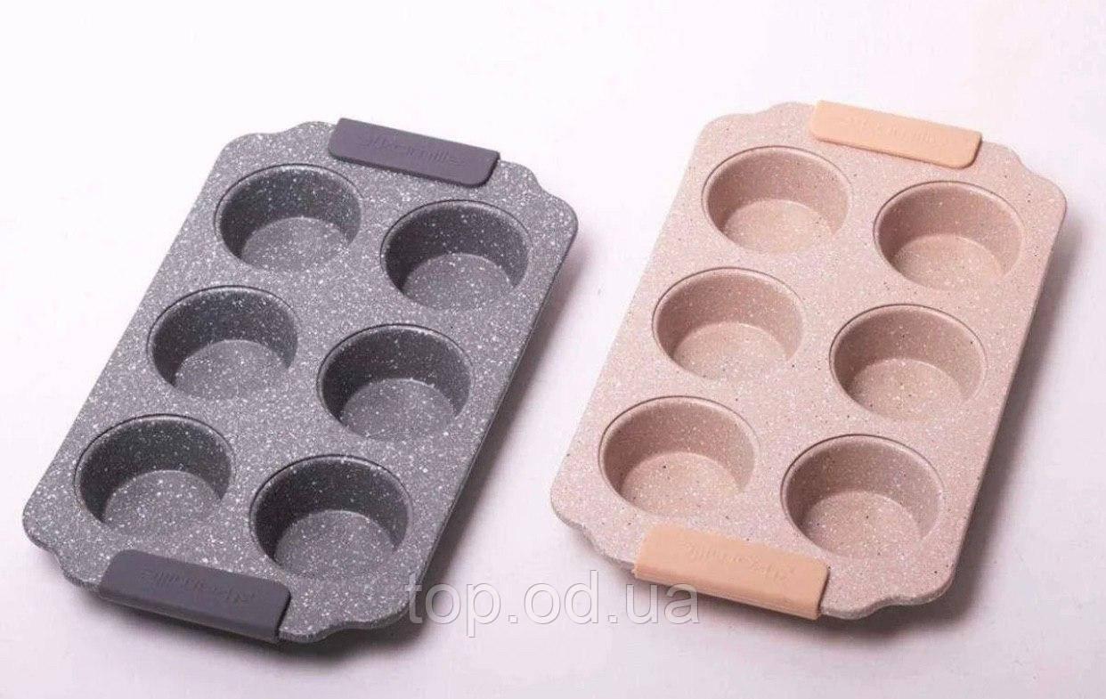 Форма для запікання 30*18*3см з вуглецевої сталі з 6 відділеннями