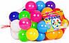 Кульки маленькі для сухого басейну 50 шт в сітці 6 см, Бамсик (0263)