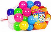 Кульки маленькі для сухого басейну 50 шт в сітці 6 см, Бамсик (0263), фото 1