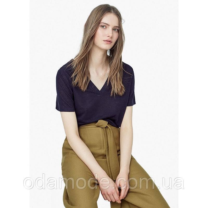 Жіноча футболка mango синя