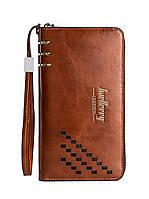 Мужской портмоне Baellerry Leather Коричневый