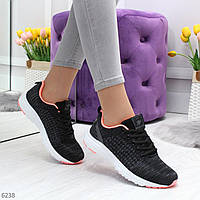 Женские текстильные кроссовки на белой легкой подошве 2,5см.Темно серые 36 37 38 39 40 41