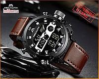 Оригинальные Мужские Наручные часы Megalith 8051M Brown-Silver-Black