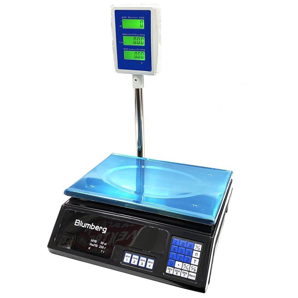 Электронные торговые весы со стойкой Blumberg YZ-208 на 50 кг