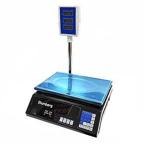 Электронные торговые весы со стойкой Blumberg YZ-208 на 50 кг, фото 2