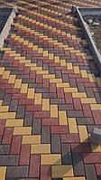 """Сухопресованная тротуарная плитка """"кирпичик"""" 40 мм."""
